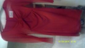 ladies red dress size 12