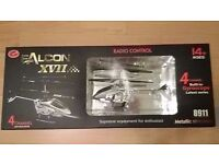 New Falcon XVII 4 Channel RC Remote Control Helicopter Alloy Metal Body Frame & Gyroscope