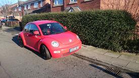 VW NEW BEETLE 1.6 2001 Stuning red, NOT spares or repair