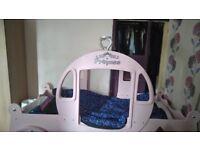 Princess carriage bed no mattress good condition