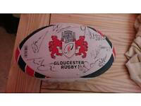 Gloucester Rugby Signed Ball 2016