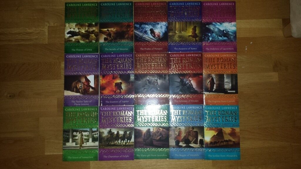 The Roman Mysteries (full boxset of 15) by Caroline Lawrence