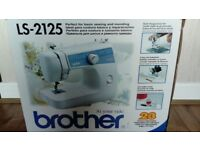 brother sewing machine ls2125 Unused in box, instructions and accessories. 23 stitch functions £55