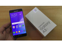 Samsung A3 SM-A310F (2016 model) Brand new, boxed and unopened - Black - Willing to postoff & Paypal