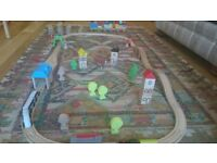 WOODEN TRAIN TRACK AND EXTRAS