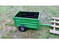 Heavy duty quad or ride-on mower trailer