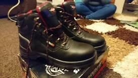 Torque work boots, UK size 10