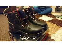 Torque work boots, UK size 10