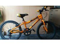 "Kids aluminium frame, 6 gears, 18""wheel mountain bike, suit 5-8years approx"
