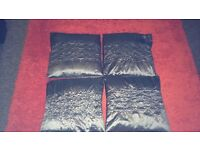 4x living room/bedroom silk grey cushion/pillows £10