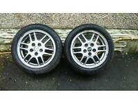 "Mitsubishi EVO 4 oz alloys 16"" + tyres evolution gsr"