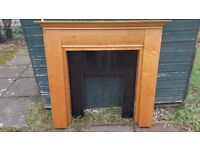 Wooden and granite fireplace surrounds plus hearth