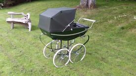 Silver Cross Vintage Pram Green