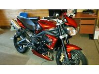 Street triple for sale as new condition only 12 miles