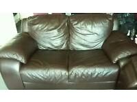 Brown 2&3 leather sofas gone pending collection