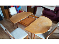 G-Plan Oval Dining Table + Chairs