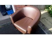 Tub chair - chocolate brown