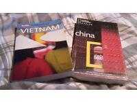 Travel books - Vietnam and China