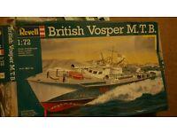 BRITISH VOSPER M.T.B. REVELL AIRFIX MODEL BOAT 1:72