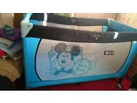 Hauck Mickey Mouse Travel Cot