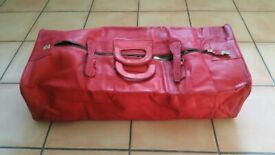Real leather travel bag.