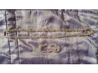Rose Quartz crystal semi-precious gemstone bracelet and necklace set LOOK here!!