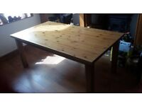 Ikea Forsby solid pine dining table