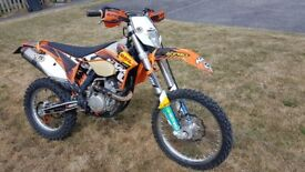 KTM 350 exc-f 2012 - enduro motorbike, road legal, full MoT, spares