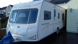 2008 BAILEY SENATOR INDIANA SERIES 6. FIXED BED MOTOR MOVER. SERVICE HISTORY CRIS REGISTERED AWNING.