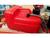 Outboard engine fuel tank
