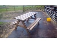 Handcrafted Picnic Table/Bench FOR SALE IN CONGLETON, CHESHIRE.