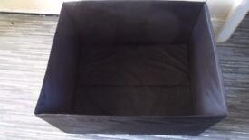 2 x Large Black Storage Boxes - £5 pair