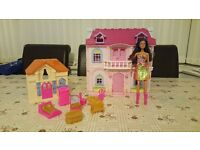 Girls Doll House with accessories