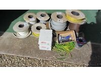 JOB LOT ( cables and boxes in various sizes and types )