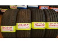 ALMOST NEW BRANDED 205 55 16 TYRES CONTIS HANKOOKS ETC £25 FITTD & BALANCED 7MM TREAD (LOADS MORE)