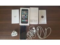 UNLOCKED iPhone 5S black 32GB boxed with accessories - Brand new screen