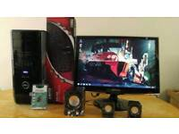 """Fast SSD Dell XPS Gaming Desktop Computer PC With Samsung 22"""" TV Freeview Widescreen HD 1080"""