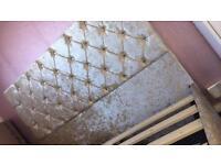 Cream crushed velvet double bed! BRAND NEW