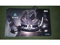 HTC Vive Virtual Reality Headset similar to Oculus Rift and PS4 VR ** Vitually new condition **