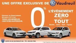 2013 Volkswagen Jetta Trendline+ A/C + 0% / 48 MOIS**