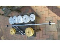 Weights and dumb bells -used CANTERBURY KENT