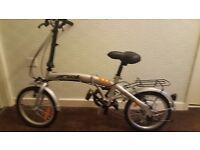Unisex fold up bike