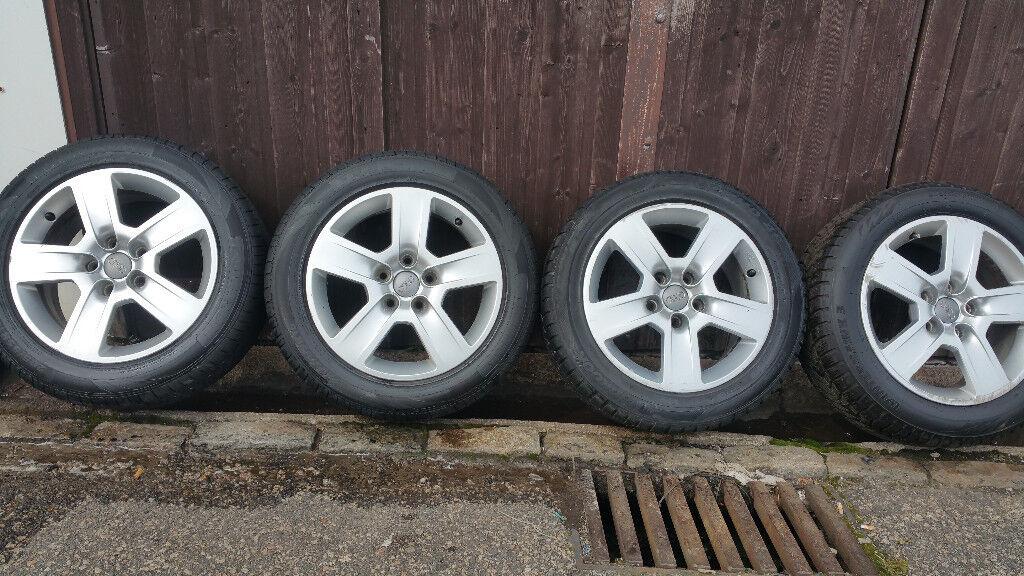 Audi Genuine 16 '' alloy wheels + 4 x tyres 205 55 16