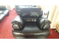 Black leather armchair john lewis