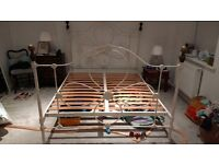King size metal bedframe