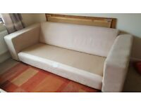 Large three seater sofa and armchair