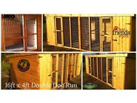16ft x 4ft Double Dog Kennel and Run - 🐕 Pet Enclosure 🐈 Cattery