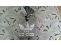 mens grey adidas hoodie L Large Size