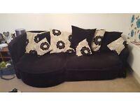 Black 4 seater sofa
