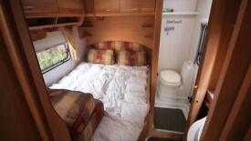 Bailey pageant Bordeaux 4 berth caravan fixed bed